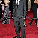 Jesse Eisenberg chose a classic two piece for this Oscars suit.
