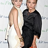 Mary-Kate Olsen and Ashley Olsen posed together for the Fresh Air Fund's Spring Gala in NYC.