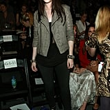 Michelle Trachtenberg checked out the Rebecca Minkoff show.