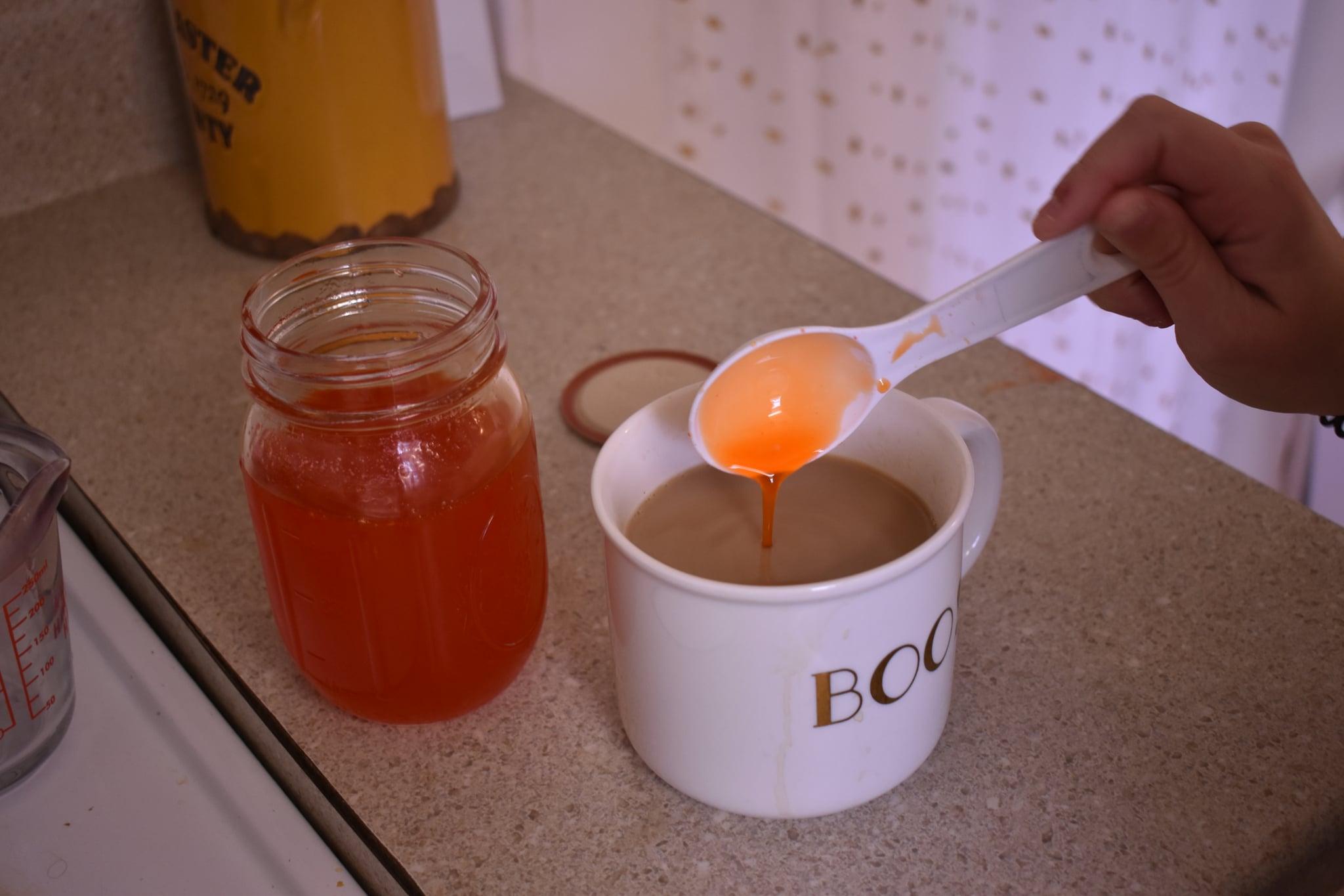 Pour Syrup Into Latté
