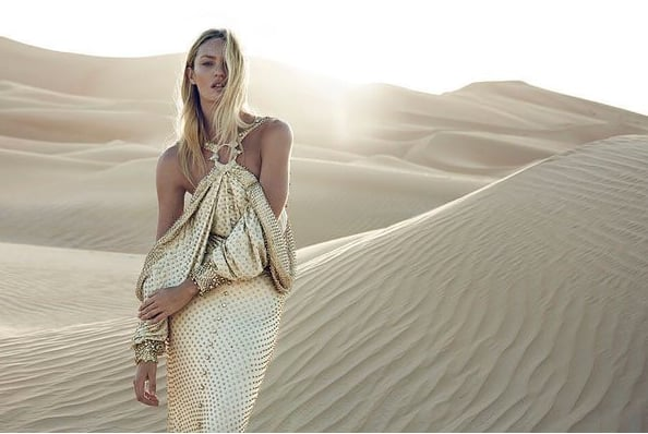 Candice Swanepoel Films Givenchy Commercial in Abu Dhabi