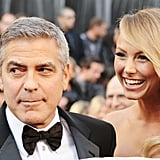 George Clooney and Stacy Keibler on the Oscars red carpet.
