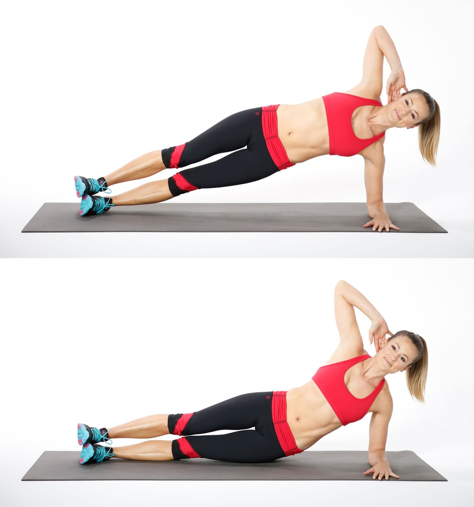 Side Plank With Hip Dip (Left Side)