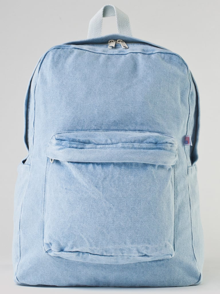 You can always rely on American Apparel to put a stylish twist on an age-old item like the backpack. This  Denim School Bag ($46) is simultaneously functional and cool. 