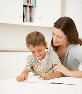 Parents Tutoring Children
