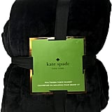 Kate Spade New York Midnight Black Full/Queen Plush Micromink Blanket