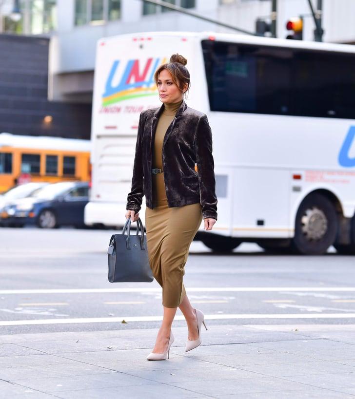 Jennifer Lopez Wearing UGG Boots in New York City