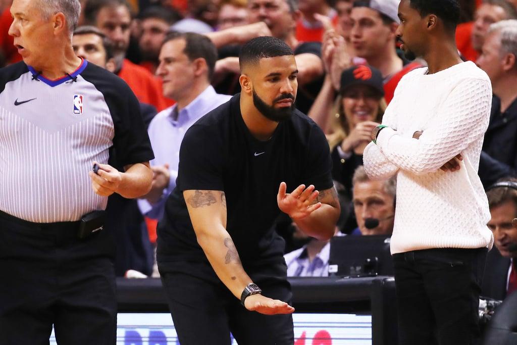 Drake Singing the Canadian National Anthem During NBA Finals