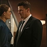 Bones What happens:  Bones finally gives in and proposes to Booth (and he happily says yes). Pelant gets angry and threatens to kill five people if Booth doesn't call it off, asking him if his happiness is worth losing the lives of innocents.  Most shocking moment: Booth calls off the engagement without giving his reason, and Bones is left heartbroken.