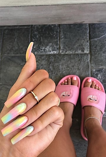Kylie Jenner Tried Tie Dye Nails and Toe Rings