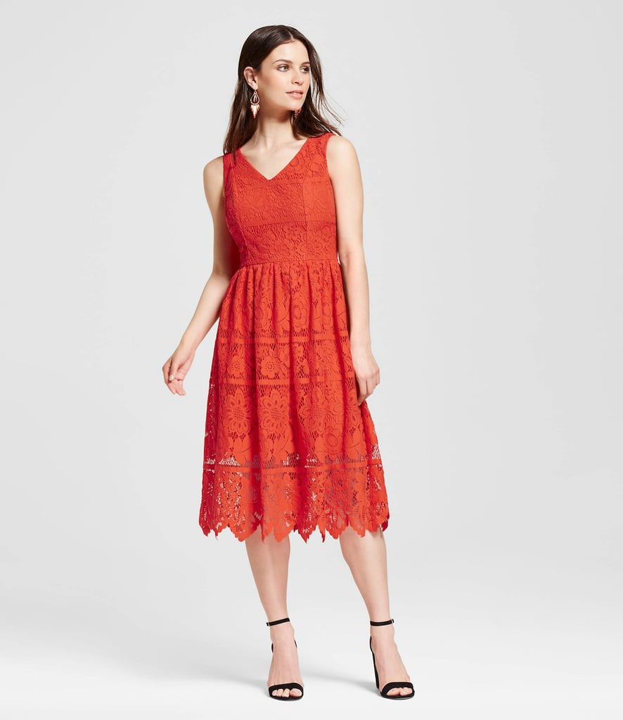 Mossimo Floral Sleeveless Lace Dress