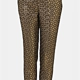 These Topshop Metallic Jacquard Crop Cigarette Pants $90 are perfect for the office and beyond.