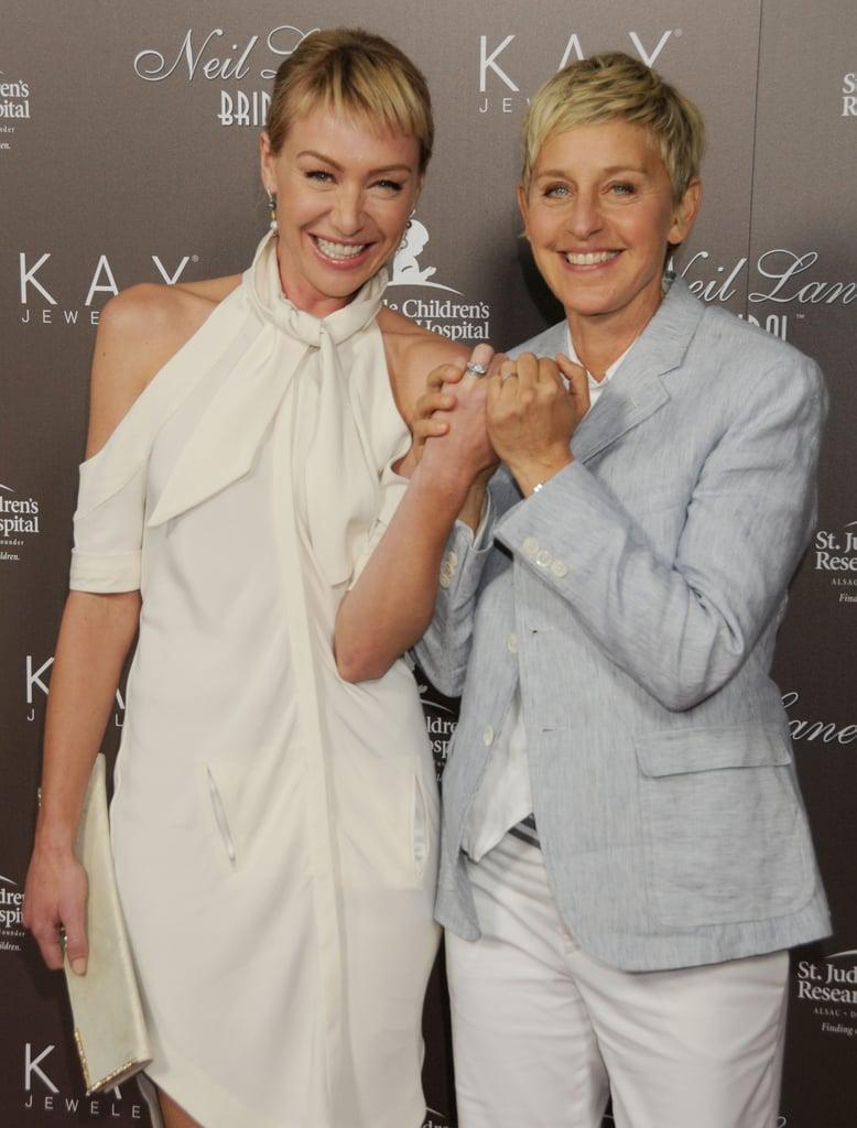 Ellen And Portia Wedding.Ellen Degeneres And Portia De Rossi Showed Off Their Wedding Bands