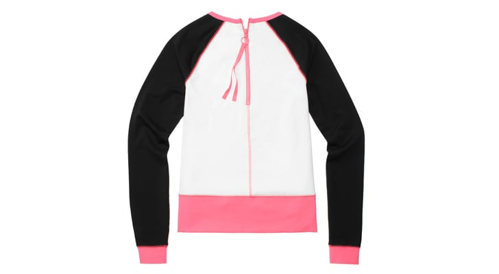 Long Sleeve Pullover in White/Pink