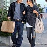 Halle and Olivier Couple Up For a Shopping Date