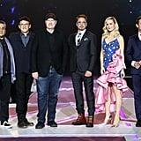 Brie Larson's Blue and Pink Dress Avengers Endgame Premiere