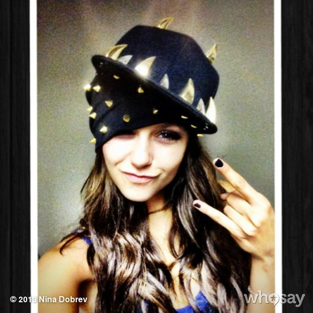 "Nina Dobrev tried her hand at dressing like a ""fierce fabulous music artist"" like her Vampire Diaries costar Kat Graham. Source: Nina Dobrev on WhoSay"