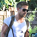 Ryan Gosling stopped by a friend's house.