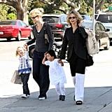 Blond Moms Meg Ryan and Laura Dern Take the Girls Out For Fun