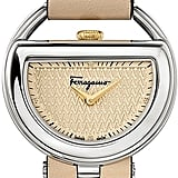 Salvatore Ferragamo Stainless Steel Champagne Dial Watch