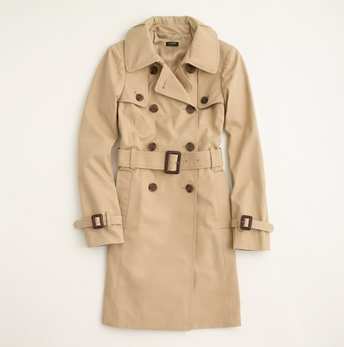 J.Crew Factory's trench coat ($188,originally $198) is the perfect lightweight option for breezy Spring days.