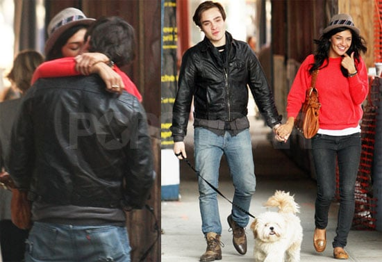 Photos of Ed Westwick and Jessica Szohr Kissing in New York