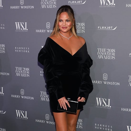 Chrissy Teigen Black Velvet Dress WSJ Awards November 2018