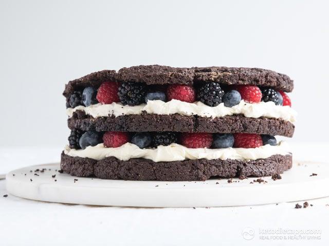 Keto Brownie Cake