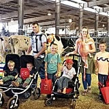 """Despite some struggles, Courtney said that having multiple little ones has simply become part of her routine. """"Having children super close in age is all I've ever known,"""" she said. """"Having multiple kids in diapers, babywearing, AND pushing a double stroller, taking a lifetime to get everyone out of the house is 'normal' for me.""""  Having 10 kids running around might seem overwhelming to most parents, but Courtney has her family's schedule down pat. As to how they get from place to place? Using a 15-person van, of course!  """"I'm the type of mom who likes a daily schedule. Meals, naptime, and bedtime are predictable around here,"""" she said. """"We also currently home school. Book work gets done in shifts during the early morning and afternoons or after supper if we're running behind.""""  She confessed that keeping the house clean can be a bit of a feat: """"Housework is probably the main thing I struggle with,"""" she said. """"With so many littles there's always a mess. We ALL do our part to clean up (my husband included), and any 'extra' chores my children get paid to do. It works for us and my kids love the spending money for camp, fairs, or snacks in town."""""""