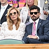 Katherine Jenkins and Andrew Levitas at Day 11 of Wimbledon