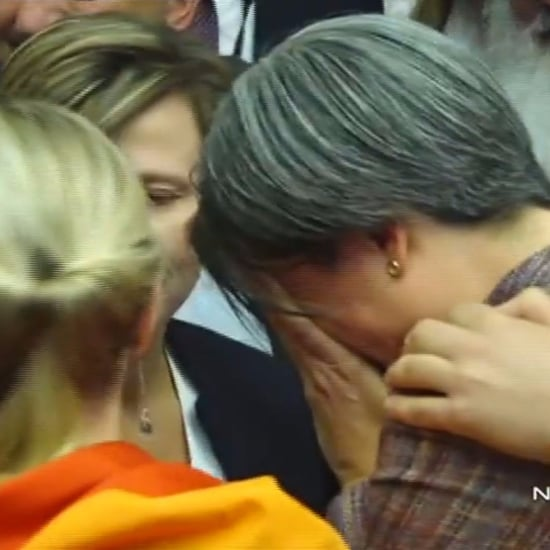 Video of Penny Wong Watching Same-Sex Marriage Results