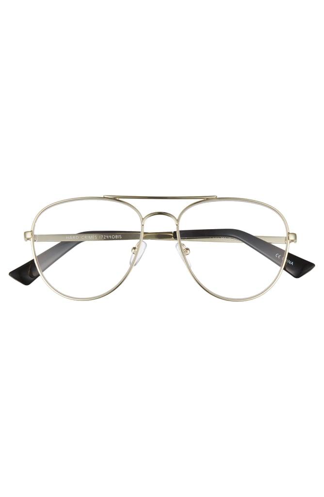 The Bookclub Hard Crimes 55mm Aviator Reading Glasses