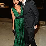 Sarah Hyland and Matt Prokop attended the 2013 Emmys Governors Ball.