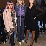 Maisie Williams, Chloë Grace Moretz, and Iris Law at Coach Fall 2019
