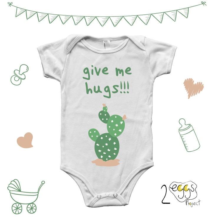 """""""Give Me Hugs"""" Cactus Onesie"""