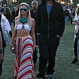 Paris Hilton and her then-boyfriend, DJ Afrojack, hung out at Coachella on Saturday before partying at Neon Carnival late into the night in 2012.