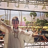 Alexa Chung Played DJ by the Pool