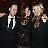Chic couple Jamie Hince and Kate Moss caught up with Carine Roitfeld inside the CR Fashion Book launch party on Tuesday night.