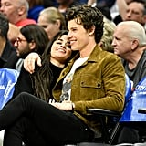 Camila Cabello and Shawn Mendes Kissing at LA Clippers Game