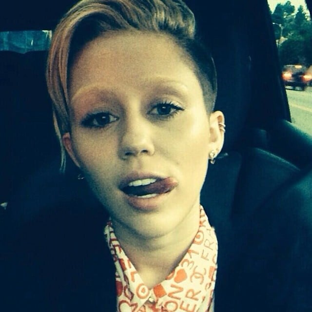 Miley Cyrus's Bleached Eyebrows