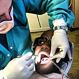 Lebron James shared a photo while in the dentist's chair. Source: Instagram user kingjames