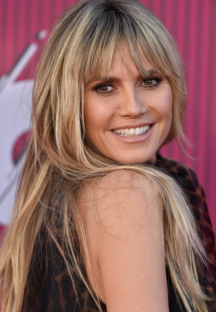 Heidi Klum With Blond Hair and Brown Lowlights