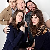 This has got to be one of the best pictures of the bunch: Geoffrey Arend, Alison Brie, Mark Webber, Lizzy Caplan, and Martin Starr for their film Save the Date.