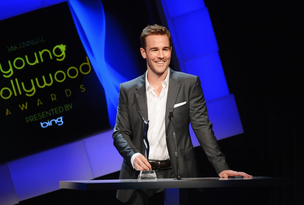 James Van Der Beek took to the stage to collect his award.