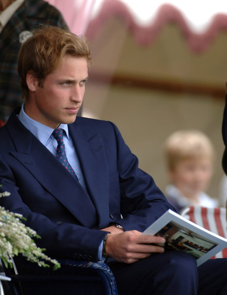 Prince William gave a serious stare at the Braemar Royal Highland Gathering in September 2005 in Scotland.
