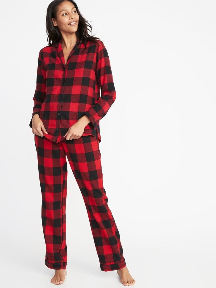 Patterned Flannel Pajama Set   Old Navy Holiday Pajamas ...