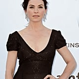 Julianna Margulies wore black at amfAR Cinema Against AIDS gala.