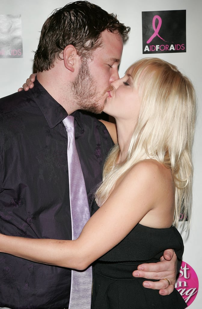 Chris and Anna shared a smooch at an LA event in October 2009.