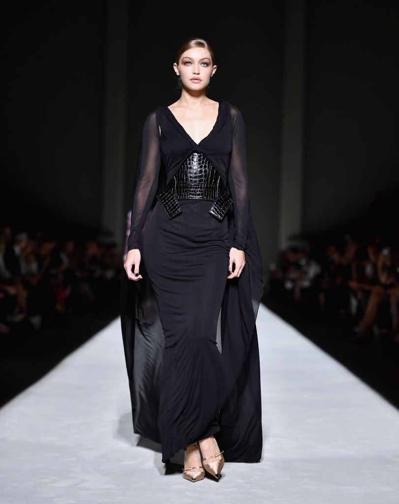 جيجي تختتم عرض أزياء توم فورد في اليوم الأوّل من أسبوع الموضة العالميّ في نيويورك