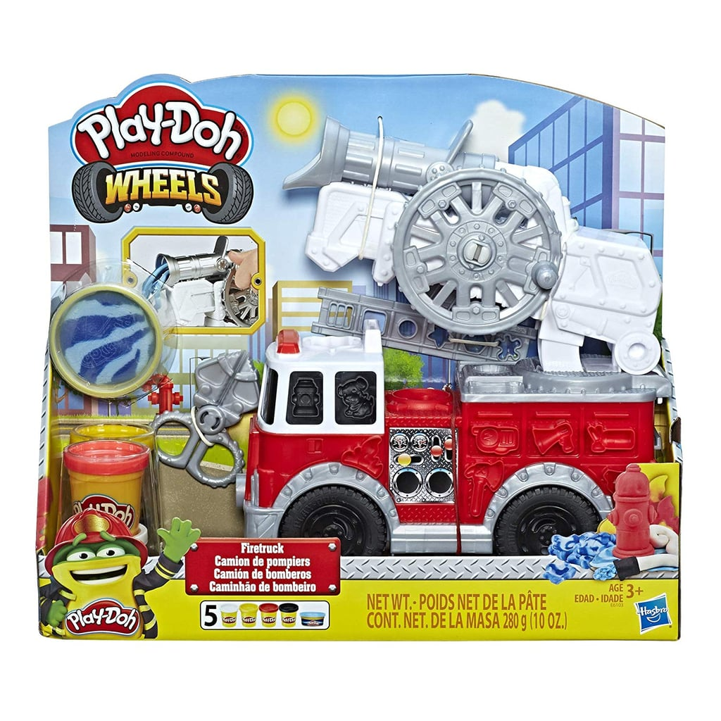 Play-Doh Wheels Firetruck Toy With 5 Non-Toxic Colors Including Play-Doh Water Compound